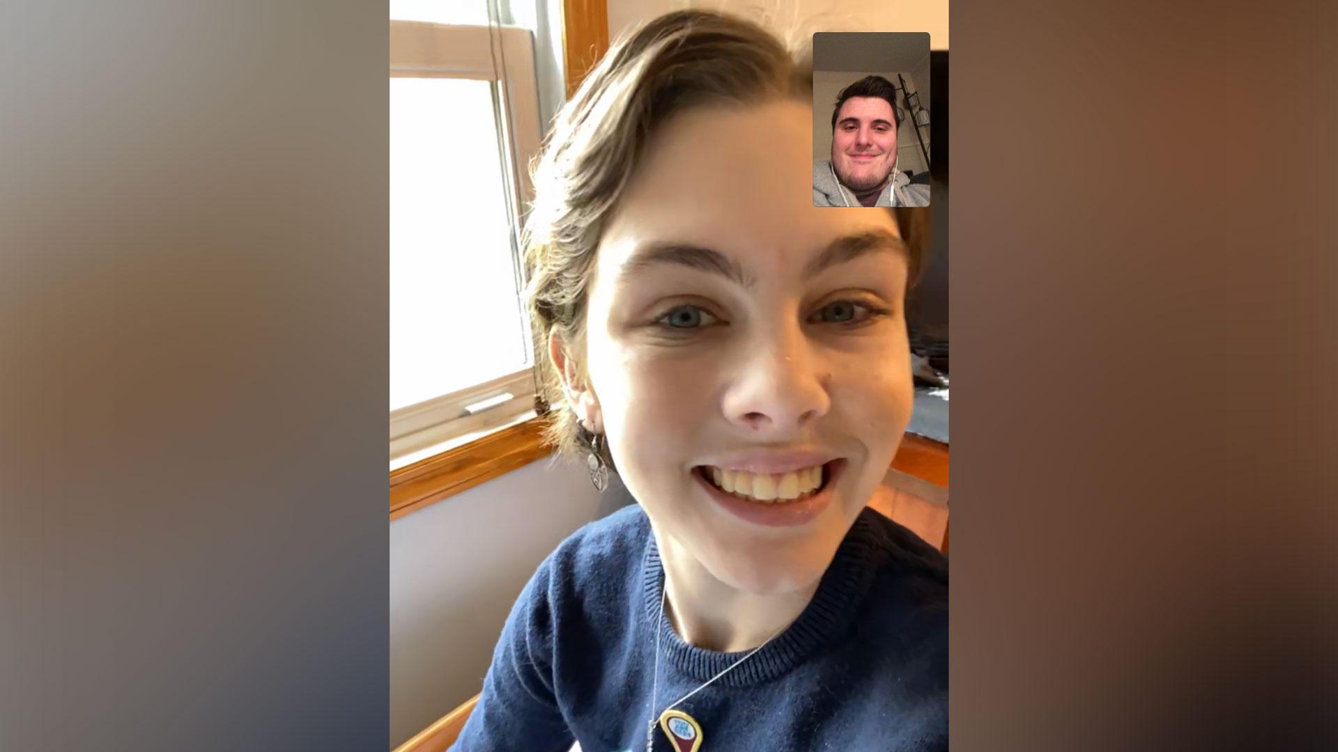 Emily and Matt on FaceTime